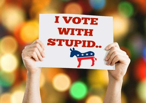 I vote with stupid Democrats