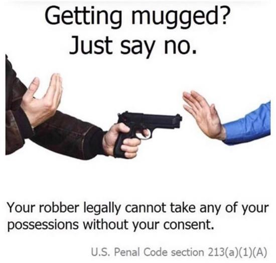 Getting mugged? Just say no.