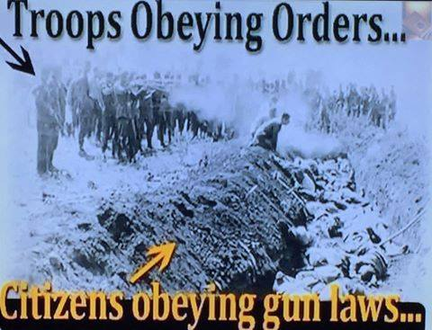 troops obeying orders