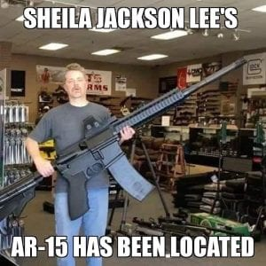 Sheila Jackson Lee's AR-15 has been located