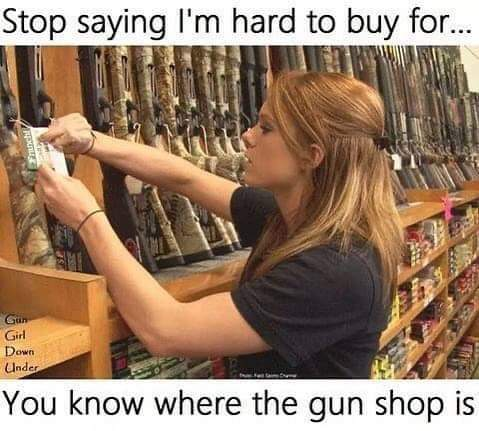 You know where the gun shop is