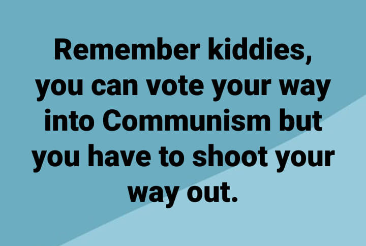 vote your way into Communism but have to shoot your way out